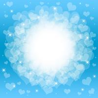 Heart full blue frame [1899361] Hart