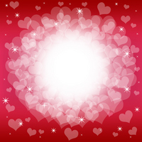 Transparent Heart of red background [1899503] Hart