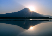 Lake Tanuki and Mount Fuji Stock photo [1903530] Mt.