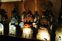 Armor Himeji Castle stock photo