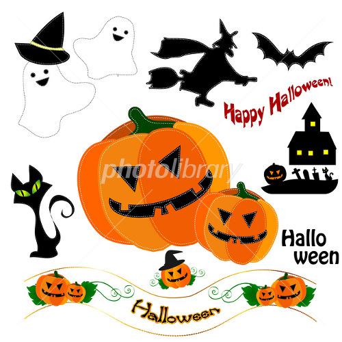 ハロウィン かぼちゃ お化け 魔女 イラスト素材 2013105 フォト