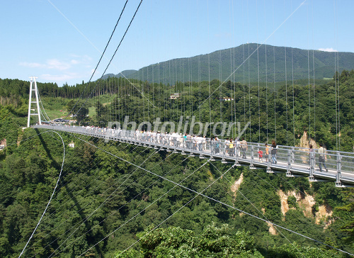 Kokonoe Yume-dai suspension bridge Photo