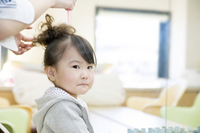 Girl to setting the hair in beauty salon Stock photo [2008261] Kids