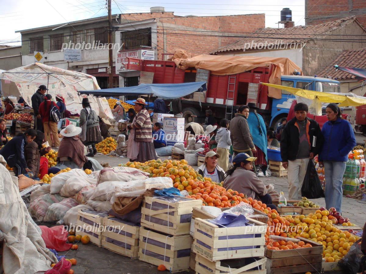 ボリビア ポトシの市場-写真素材  ボリビア ポトシの市場 画像ID 2118956  ボリビア