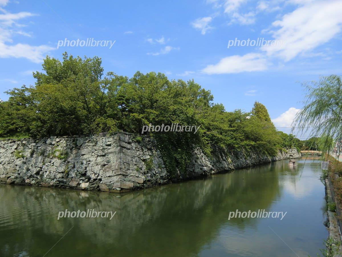Tokushima Castle Mizuhori and Ishigaki Photo