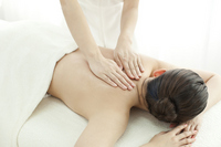 Esthetician to massage the back Stock photo [2111984] Este