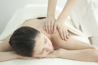 Esthetician to massage the back Stock photo [2112041] Este