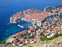 Dubrovnik old town as seen from Srđ Stock photo [2113853] World