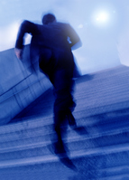 Businessman to run up Stock photo [2123937] Businessman