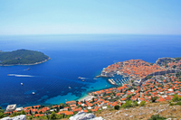Dubrovnik old town and Lokrum island with views than Srđ Stock photo [2124255] Adriatic