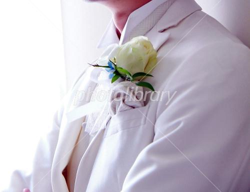 Groom wearing a tuxedo Photo