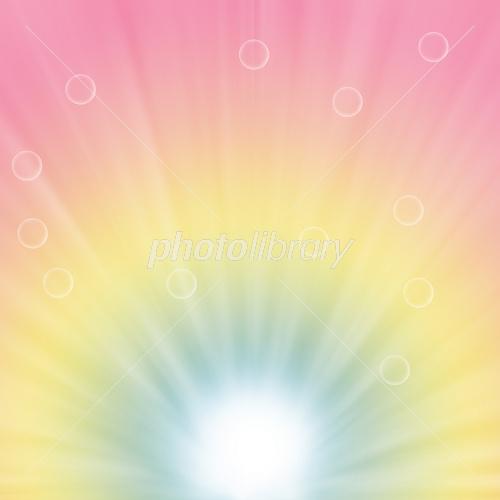 放射状の光とグラデーションの背景イラスト イラスト素材 2224851