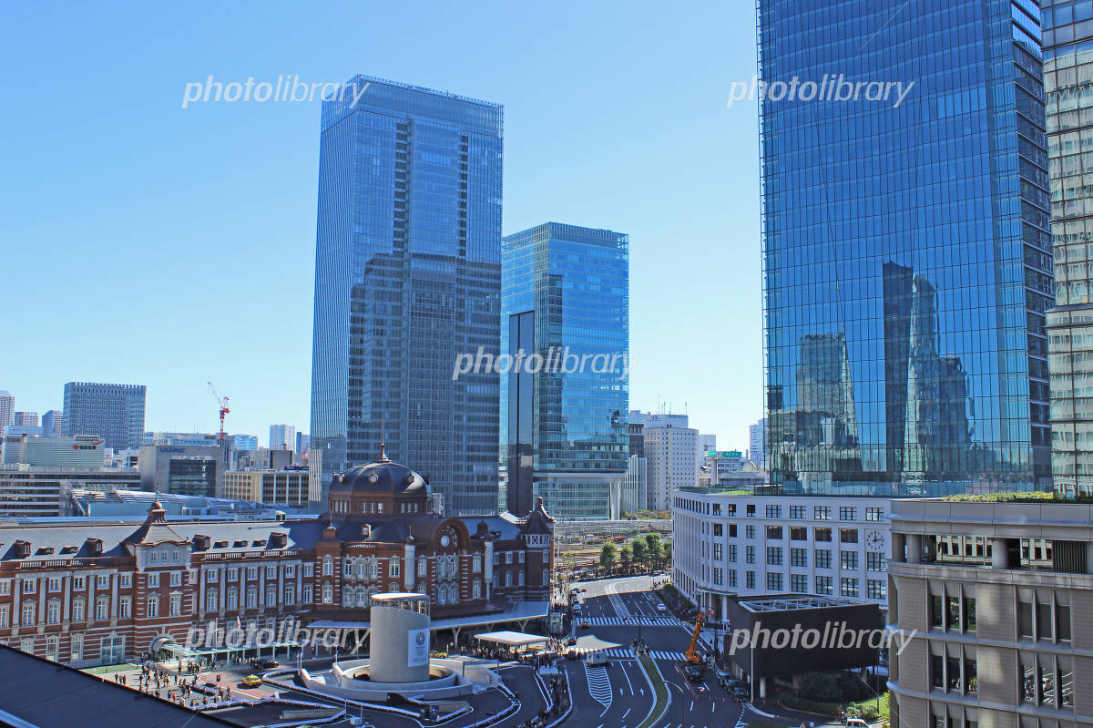 Tokyo Station south exit of high-rise buildings Photo
