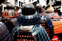 Rear View of the samurai stock photo