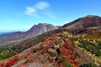 Of autumn leaves Kuju mountain range Stock photo [2217431] Oita