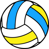 Blue and yellow volleyball [2220192] Volleyball