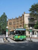 Toei bus Tokyo University campus bus stop Stock photo [2222236] Metropolitan