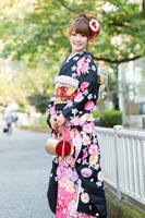 Long-sleeved kimono Stock photo [2223142] Person