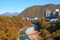 Of autumn leaves Kinugawa Onsen Stock photo [2224303] Kinugawa