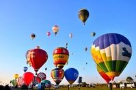 Balloon simultaneous takeoff Stock photo [2226016] Saga