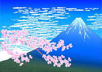 Mount Fuji with cherry blossom [2227738] Mt.