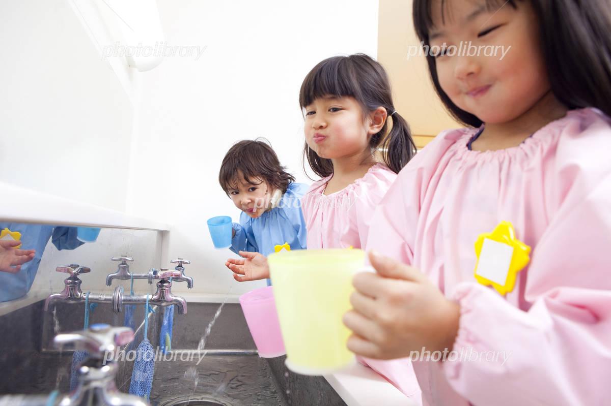 Kindergarten to gargle Photo