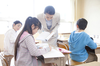 Female teacher to teach study student Asia