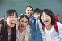 Smile of elementary school men and women and women teachers Stock photo [2348947] Happy