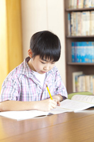 Elementary school boys to study in the library Stock photo [2349067] Asia