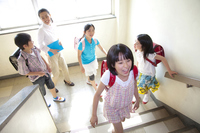 Ranks elementary school four and women teachers Stock photo [2349109] Happy