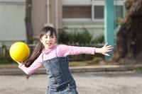Elementary school girls to the dodgeball Stock photo [2349198] Play