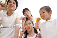 Family to the toothpaste Stock photo [2349269] Four