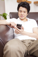 Men who operate the smartphone Stock photo [2349466] 1