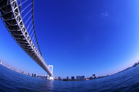Blue sky of Rainbow Bridge overlooking than Shibaura Stock photo [2356180] Rainbow