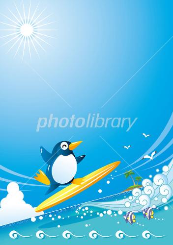 ペンギンのサーフィン(縦)