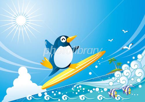 ペンギンのサーフィン(横)
