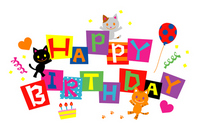 Birthday card cat illustrations [2471668] Birthday