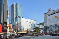 Shibuya Station and Shibuya Hikarie seen from Shibuya scramble intersection Stock photo [2475069] Hikarie