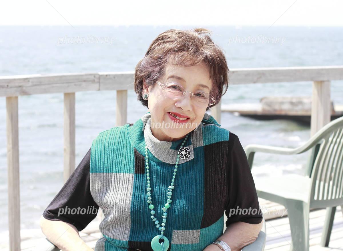 Senior women smile Photo