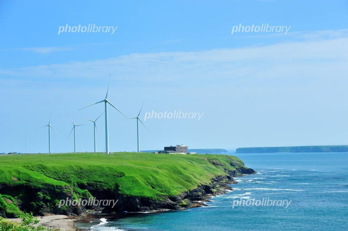 Coast of windmill Photo