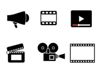 Simple icon for Film and Video [2598208] Movie