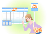 Convenience store payment illustrations [2599101] Convenience