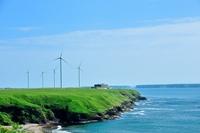 Coast of windmill Stock photo [2607903] Sea