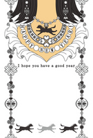 Horse year New Year's card Silver accessories HAPPYNEWYEAR [2608572] Jewelry