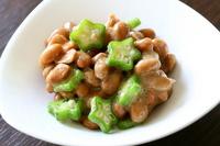 Natto tossed the okra Stock photo [2608613] Natto