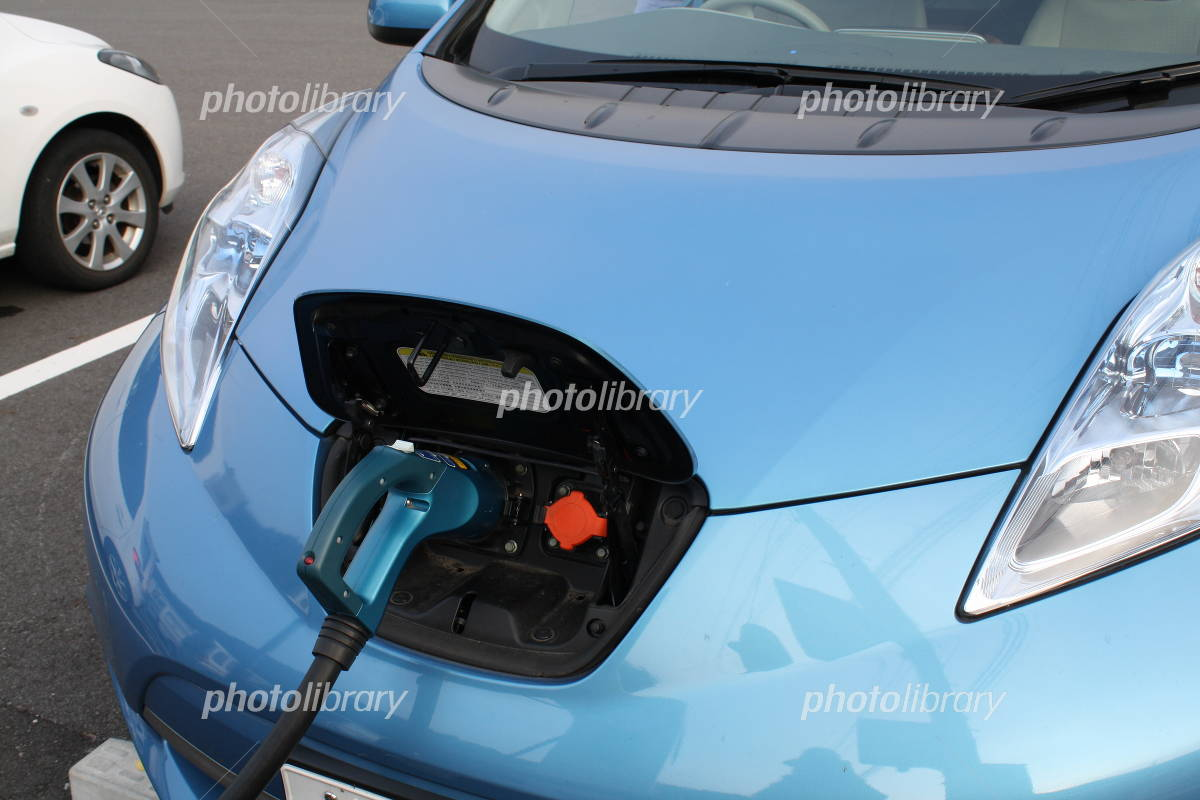 Electric car in charge (up) Photo
