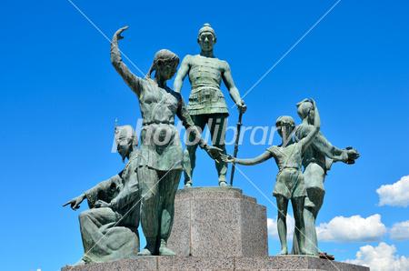 鞠智城の防人の像 . 写真素材 [ ...