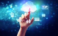 Hand to push cloud computing icon Stock photo [2695804] Cloud