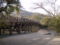 According to the Isuzu River which is celebrated the New Year Uji Bridge Stock photo [78252] New