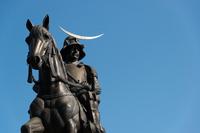 Date Masamune equestrian statue stock photo
